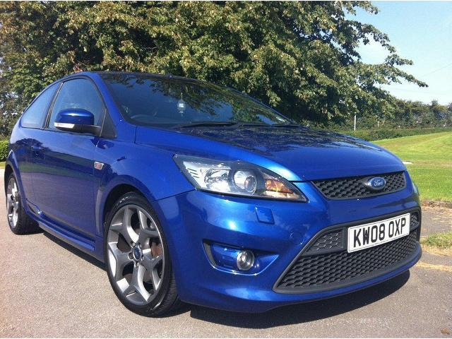 used ford focus 2008 petrol 2 5 st 3 3dr full hatchback blue edition for sale in stoke on trent