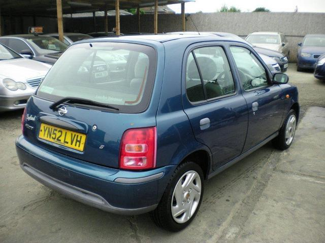 used 2002 nissan micra hatchback 1 0 s 5dr petrol for sale. Black Bedroom Furniture Sets. Home Design Ideas