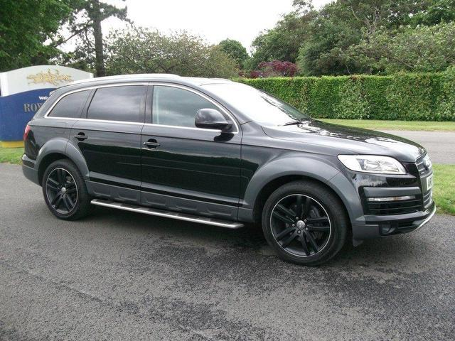used audi q7 2007 black paint diesel 3 0 tdi quattro se. Black Bedroom Furniture Sets. Home Design Ideas