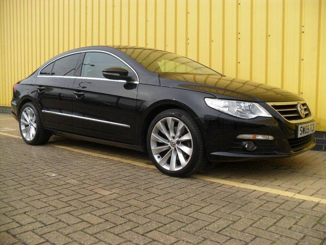 used volkswagen passat car 2009 black diesel cc 2 0 gt tdi saloon for sale in portsmouth uk. Black Bedroom Furniture Sets. Home Design Ideas