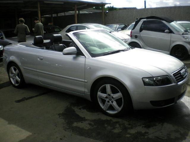 Used Audi A4 2003 Silver Convertible Petrol Manual for Sale