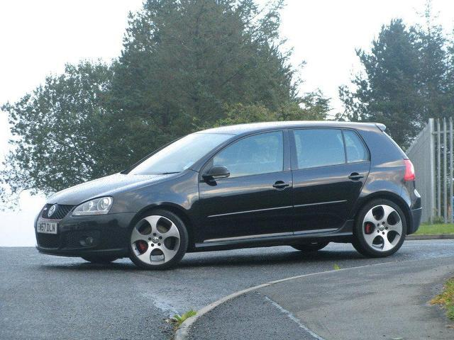 used volkswagen golf 2007 black paint petrol gti 5dr hatchback for sale in turrif uk. Black Bedroom Furniture Sets. Home Design Ideas