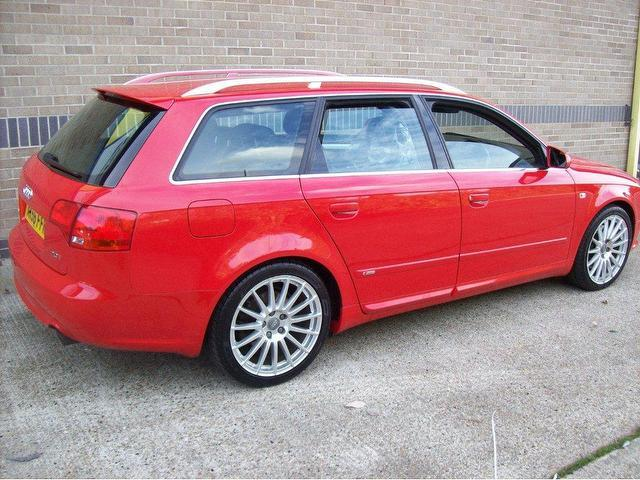used audi a4 2006 red paint petrol fsi s line estate. Black Bedroom Furniture Sets. Home Design Ideas