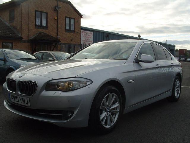 used bmw 5 series 2010 diesel 520d se 4dr saloon silver. Black Bedroom Furniture Sets. Home Design Ideas