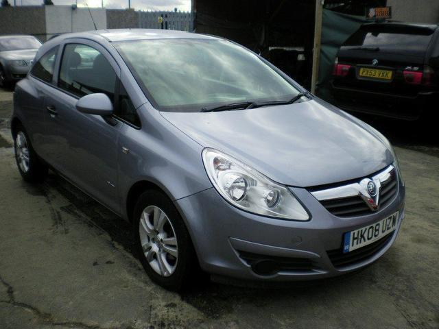 used vauxhall corsa 2008 petrol 16v breeze 3dr hatchback silver edition for sale in wembley. Black Bedroom Furniture Sets. Home Design Ideas
