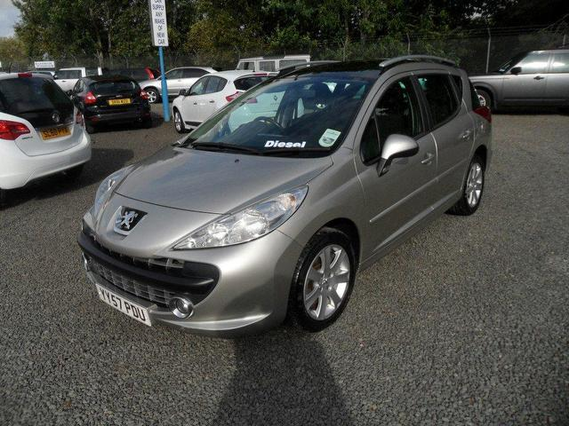 used peugeot 207 2008 grey paint diesel 1 6 hdi 90 sport estate for sale in inveralmond place uk. Black Bedroom Furniture Sets. Home Design Ideas