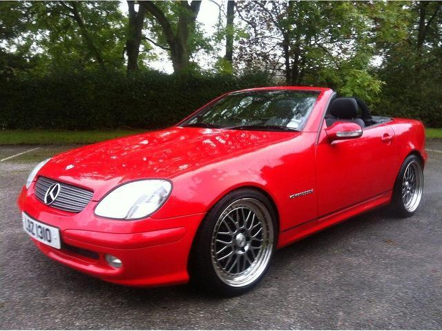 used mercedes benz 2003 red paint petrol 200k 2dr 2 0