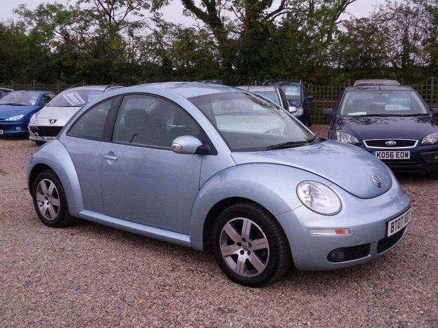 used volkswagen beetle 2007 petrol 1 6 luna 3dr hatchback blue with electric mirrors for sale. Black Bedroom Furniture Sets. Home Design Ideas