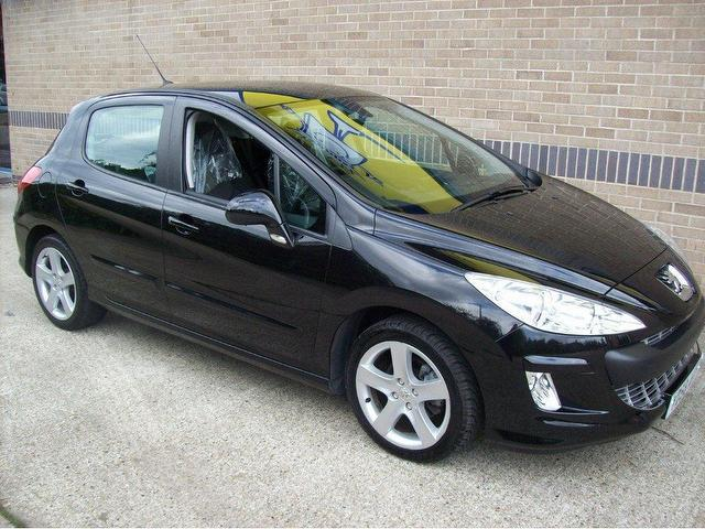 used peugeot 308 2008 model 1 6 vti sport 5dr petrol hatchback black for sale in norwich uk. Black Bedroom Furniture Sets. Home Design Ideas