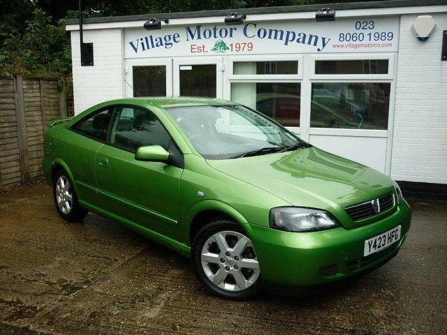 used vauxhall astra 2001 green coupe petrol manual for sale