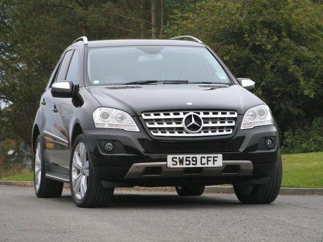 Used mercedes benz 2009 black paint diesel class ml300 cdi for Used mercedes benz sale