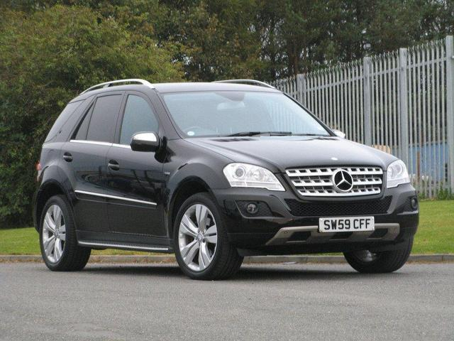 used mercedes benz 2009 black paint diesel class ml300 cdi