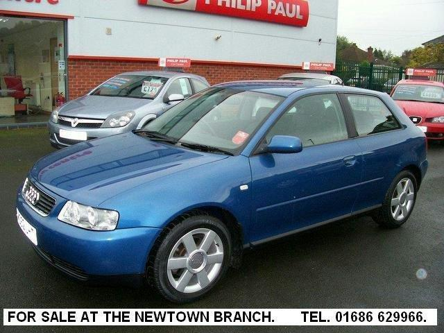 used audi a3 car 2003 blue petrol 1 8 se 3 door auto hatchback for sale in oswestry uk autopazar. Black Bedroom Furniture Sets. Home Design Ideas