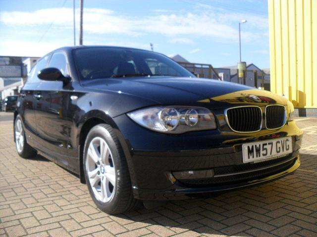 used bmw 1 series 2008 black colour diesel 118d se 5 door hatchback for sale in portsmouth uk. Black Bedroom Furniture Sets. Home Design Ideas