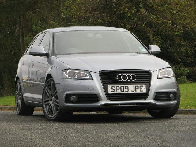 used silver audi a3 2009 diesel 2 0 tdi 170 quattro. Black Bedroom Furniture Sets. Home Design Ideas