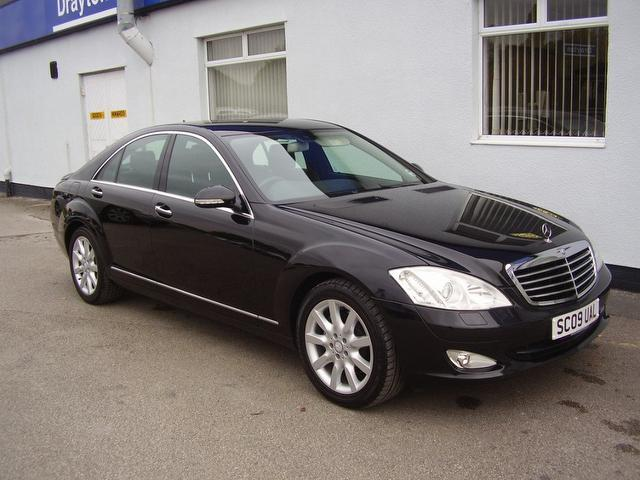 used mercedes benz 2009 black paint diesel class s320 cdi