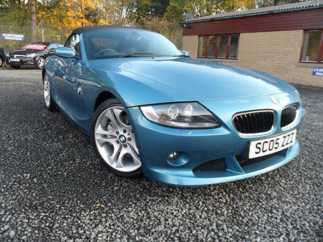 used bmw z4 2005 blue paint petrol se 2dr convertible for sale in inveralmond place uk. Black Bedroom Furniture Sets. Home Design Ideas