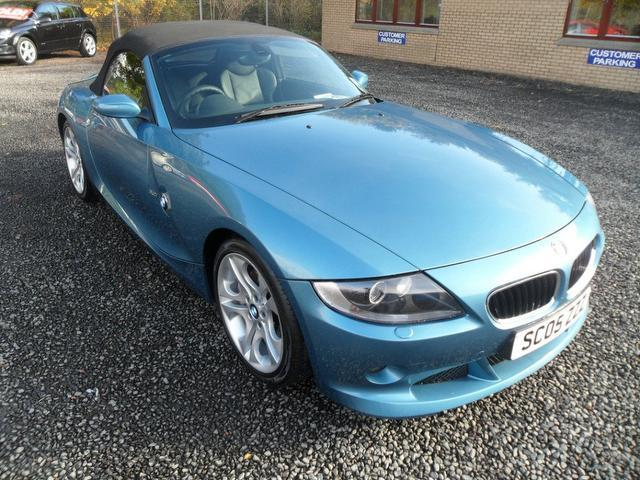 Used Bmw Z4 2005 Blue Paint Petrol 3 0i Se 2dr Convertible