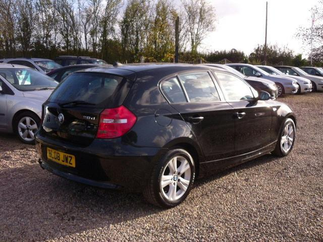 used bmw 1 series 2008 model 118d se 5dr diesel hatchback black for sale in nuneaton uk autopazar. Black Bedroom Furniture Sets. Home Design Ideas