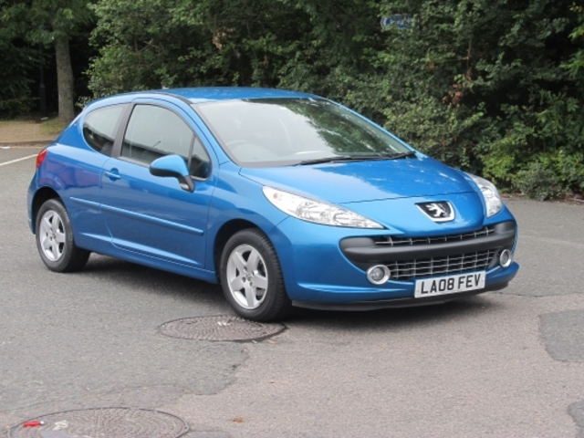 used peugeot 207 2008 manual petrol blue for sale uk. Black Bedroom Furniture Sets. Home Design Ideas