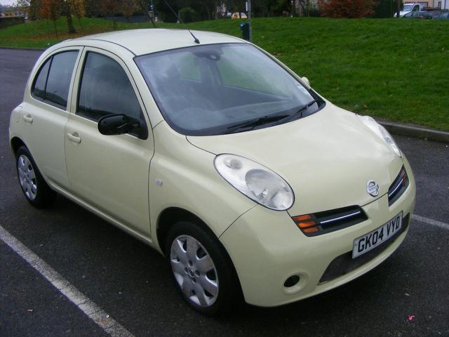 Used 2004 Nissan Micra Hatchback Yellow Edition 1 2 Se 5dr
