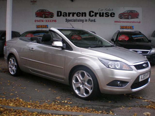 used silver ford focus 2009 diesel 2.0 tdci cc-2 argento convertible