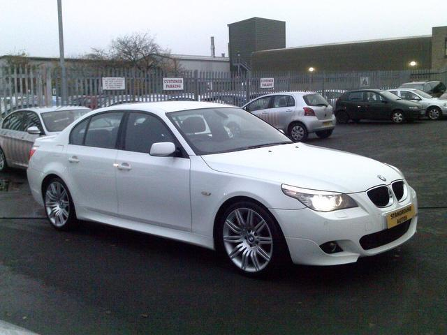 used bmw 5 series 2008 white colour diesel 520d m sport saloon for sale in fengate uk autopazar. Black Bedroom Furniture Sets. Home Design Ideas