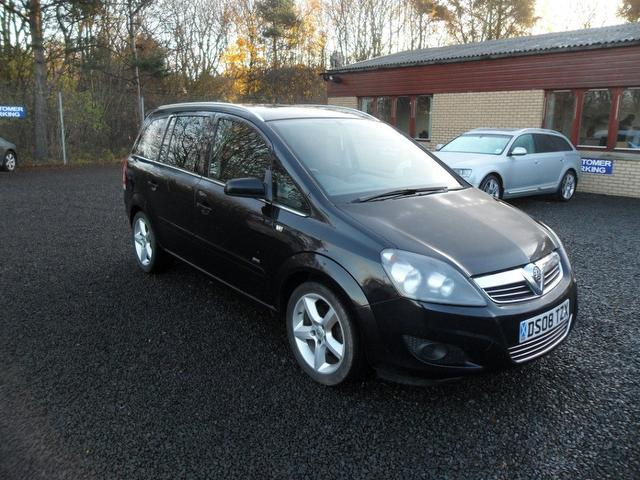 used vauxhall zafira 2008 diesel 1 9 cdti sri 150 estate. Black Bedroom Furniture Sets. Home Design Ideas