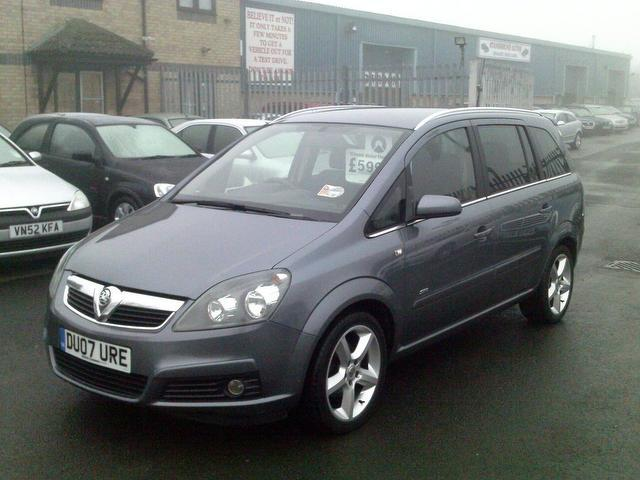 used grey vauxhall zafira 2007 petrol sri 5dr exterior estate excellent condition for sale. Black Bedroom Furniture Sets. Home Design Ideas