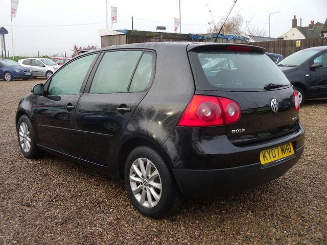 used volkswagen golf 2007 manual petrol 1 6 match fsi 5 door black for sale uk autopazar. Black Bedroom Furniture Sets. Home Design Ideas