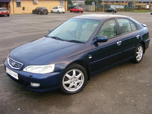 Used honda accord car 2002 blue petrol type v 5 door for Used hondas for sale