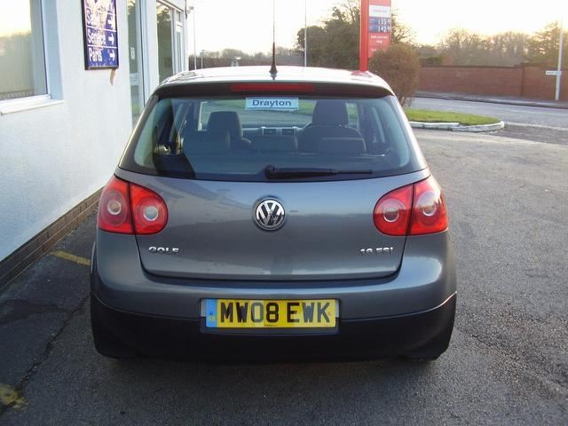 used volkswagen golf 2008 manual petrol 1 6 match fsi 5 door grey for sale uk autopazar. Black Bedroom Furniture Sets. Home Design Ideas
