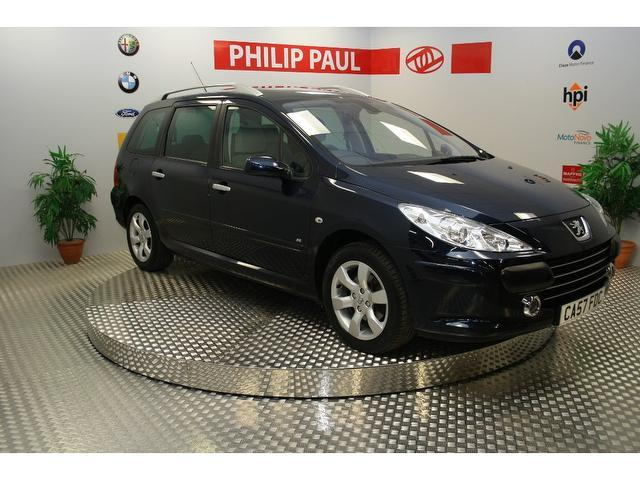 used peugeot 307 2007 diesel 1 6 hdi 90 se estate blue. Black Bedroom Furniture Sets. Home Design Ideas