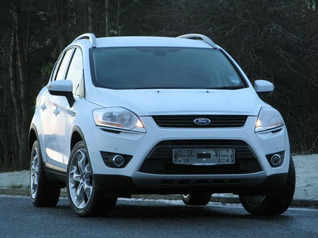 used ford kuga 2010 white colour diesel 2 0 tdci 163. Black Bedroom Furniture Sets. Home Design Ideas