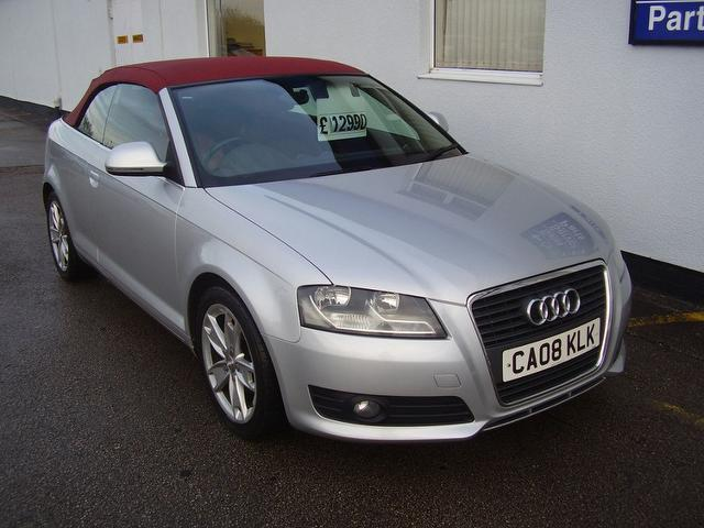 used silver audi a3 2008 diesel 2 0 tdi sport 2dr convertible excellent condition for sale. Black Bedroom Furniture Sets. Home Design Ideas