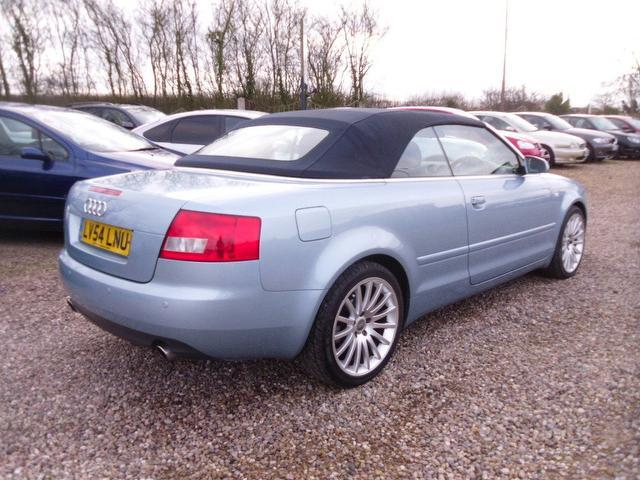used audi a4 2004 model auto 6 month petrol convertible blue for sale in nuneaton uk. Black Bedroom Furniture Sets. Home Design Ideas