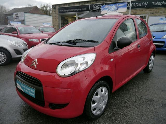 used citroen c1 2009 model vtr 5dr diesel hatchback red for sale in wakefield uk. Black Bedroom Furniture Sets. Home Design Ideas