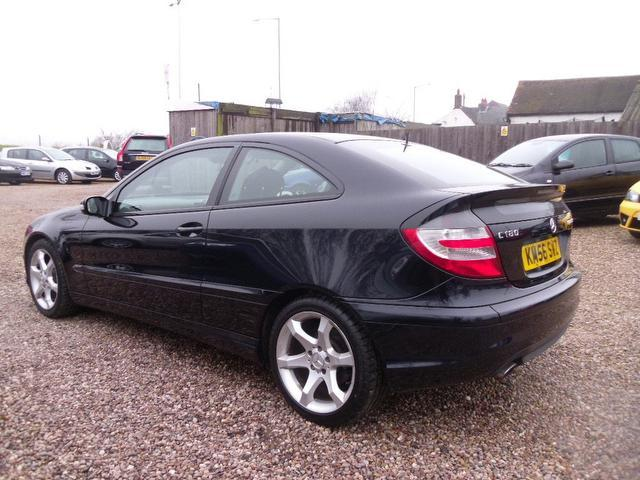 Used mercedes benz 2006 model class c180k sport auto petrol coupe black for sale in nuneaton uk - Mercedes c class coupe used ...