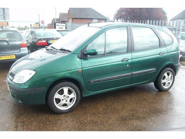 used renault megane 2001 scenic 1 6 16v expression green for sale in ashford uk autopazar. Black Bedroom Furniture Sets. Home Design Ideas
