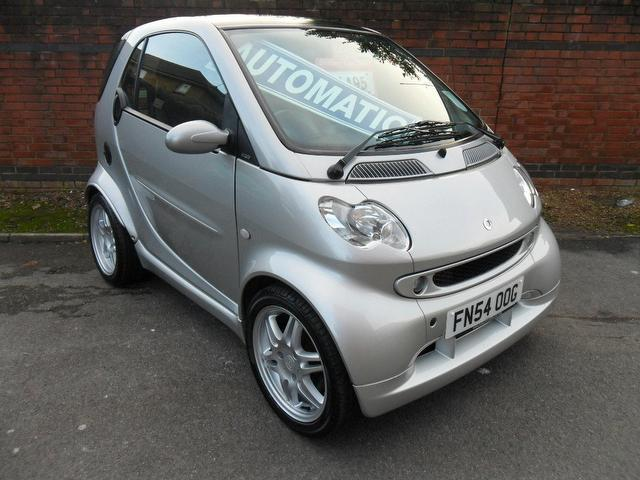 used smart fortwo 2004 petrol brabus 2dr auto 0 7 coupe silver with sports seats for sale. Black Bedroom Furniture Sets. Home Design Ideas