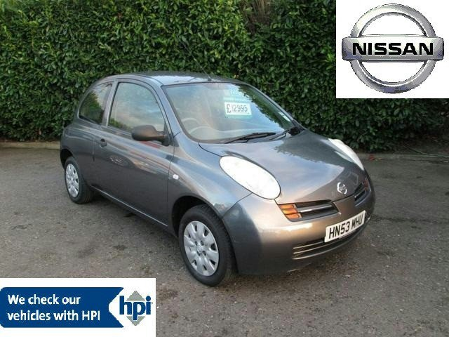 used grey nissan micra 2003 petrol 1 2 s 3dr cheap hatchback in great condition for sale autopazar. Black Bedroom Furniture Sets. Home Design Ideas