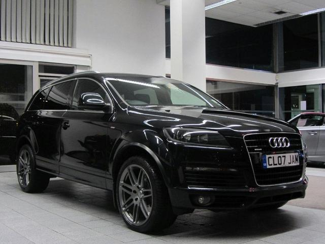 used audi q7 car 2007 black diesel 3 0 tdi quattro s 4x4. Black Bedroom Furniture Sets. Home Design Ideas