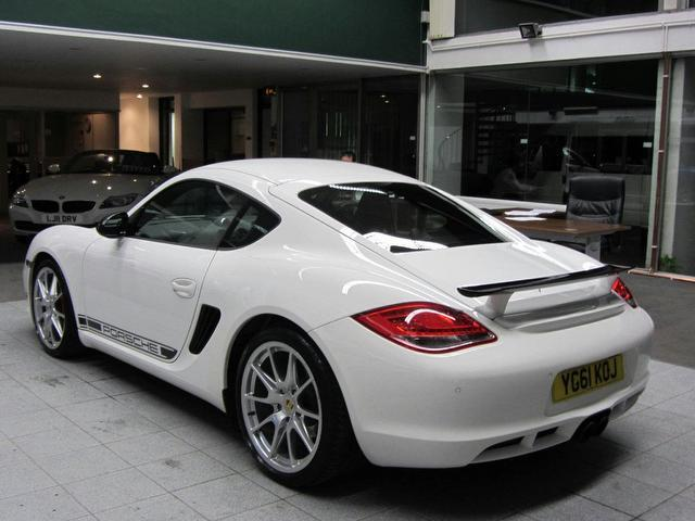 used porsche cayman 2011 petrol 3 4 r 2dr pdk coupe white with computer for sale autopazar. Black Bedroom Furniture Sets. Home Design Ideas