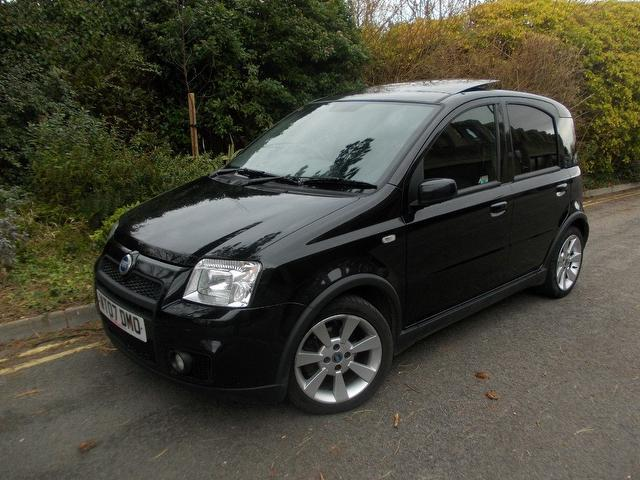 used black fiat panda 2007 petrol 1 4 16v 100hp 5dr hatchback excellent condition for sale. Black Bedroom Furniture Sets. Home Design Ideas