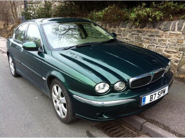 used jaguar x type 2004 petrol 2 5 v6 se 4dr saloon green. Black Bedroom Furniture Sets. Home Design Ideas