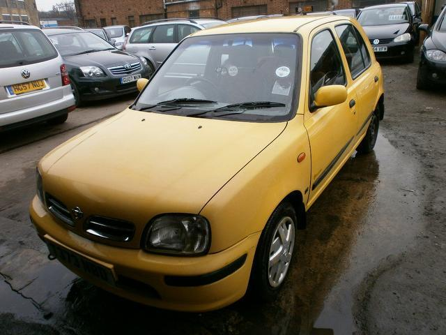 Used Nissan Micra 1.3 Equation 5 Door  Hatchback Yellow 2003 Petrol for Sale in UK
