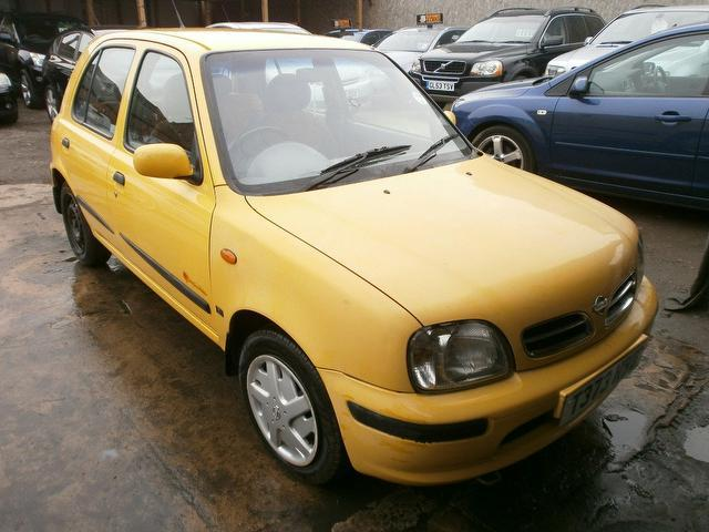 Used Nissan Micra 2003 Yellow Hatchback Petrol Manual for Sale