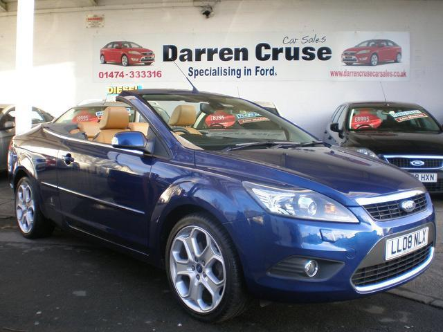 used ford focus 2008 blue paint petrol 2.0 cc-3 2dr auto convertible