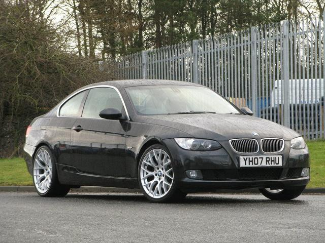 used black bmw 3 series 2007 petrol 325i se 2dr coupe. Black Bedroom Furniture Sets. Home Design Ideas