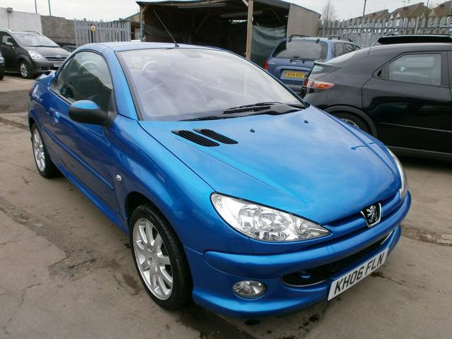 used peugeot 206 2006 diesel 1 6 hdi allure 2dr convertible blue edition for sale in wembley uk. Black Bedroom Furniture Sets. Home Design Ideas
